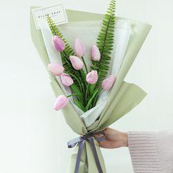 연보라튤립 꽃다발