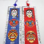 민속탈 벽걸이 (5개묶음판매)  우리나라 전통 소품