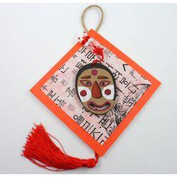 전통탈 한지벽걸이 (5개묶음판매)  전통 명절만들기