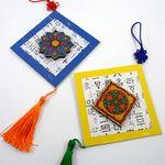 전통문양 한지벽걸이 (5개묶음판매)  전통만들기