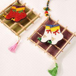 전통 버선걸이 (5인용)  전통소품 벽걸이만들기