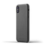 Full Leather Case for iPhone X - Gray