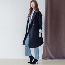 [로코식스] stand wool double CT코트