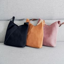 suede minimal shoulder bag가방