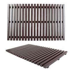 천연세로줄 미송목재발-레드브라운