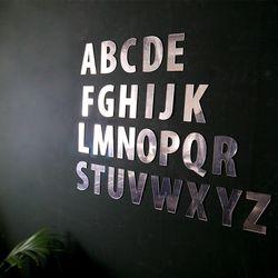 알파벳 거울 데코 스티커