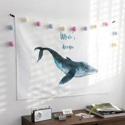 고래의 꿈 패브릭포스터