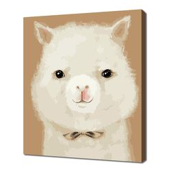 [명화그리기]3040 귀여운 라마 13색 일러스트