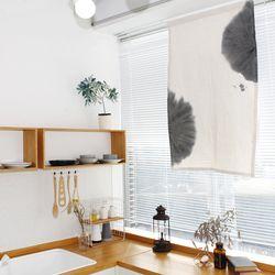 천연염색 수묵화 A타입 광목 가리개커튼 78x125