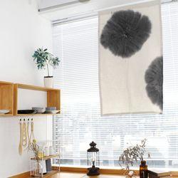 천연염색 수묵화 C타입 광목 가리개커튼 78x125