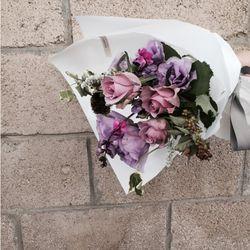 졸업입학 꽃다발 퍼플 장미