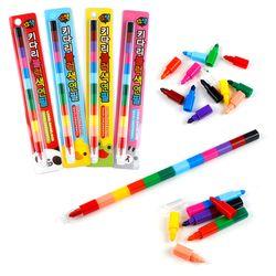 키다리블럭색연필