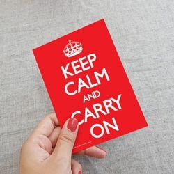 PYRAMID Keep Calm and Carry On 엽서