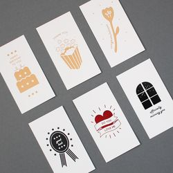 message card -6 type