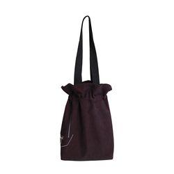 흩날리는 복주머니 shoulder bag dark wine