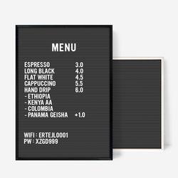 A3 블랙 레터보드 DIY 세트 - 메탈Frame