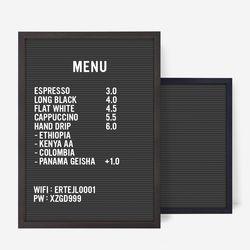 A3 블랙 레터보드 DIY 세트 - 소호15Frame