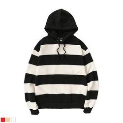뉴해빗 - overfit stripe hood - 스트라이프후드
