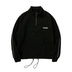 뉴해빗 - ring half-zipup sweatshirts - 하프집업