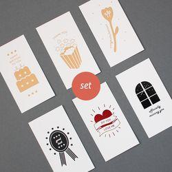 message card - 6 type set
