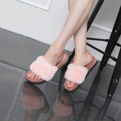 [쿠루] 여성 3.5cm 스웨이드 슬리퍼3color G6438