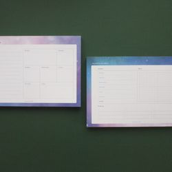 A Planner on a desk Schedule Pad - Universe 100매