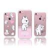 오버액션 토끼 투명 젤리케이스 아이폰8 7