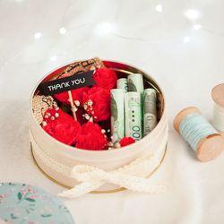 로맨틱 비누장미 틴케이스(그린-소)