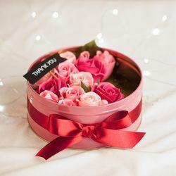 로맨틱 비누장미 틴케이스(핑크-대)