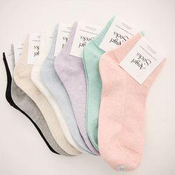[WOMAN]Low cotton-socks(8color)