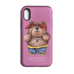 PHONE CASE THUG BEAR PINK iPHONE 8  8+  X