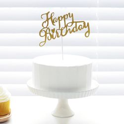 Cake Topper 케익데코픽 생일 캘리그래피 2color