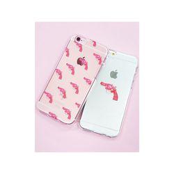 갤럭시S6엣지플러스 핑크건 (젤리 케이스)