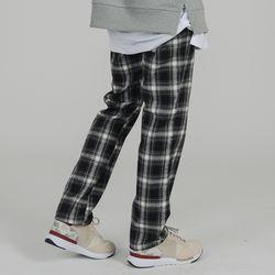 ELASTIC WAIST 80 CHECK PANTS BLACK