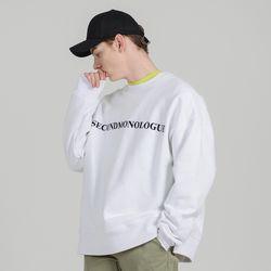 SECONDMONOLOGUE K.OVERSIZED SWEAT SHIRTS WHITE