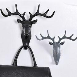 북유럽 사슴 벽걸이 후크블랙