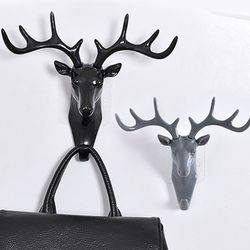 북유럽 사슴 벽걸이 후크화이트