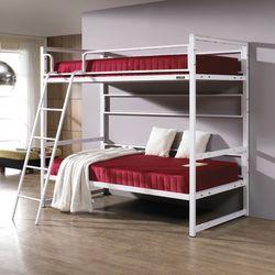심플  라인 원목 침대 싱글 2단