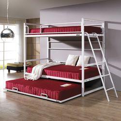 심플  라인 원목 침대 싱글 3단