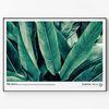 메탈 식물 인테리어 액자 Green leaves B [대형]