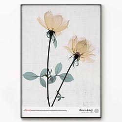 메탈 꽃 식물 액자 엑스레이 플라워 B [대형]