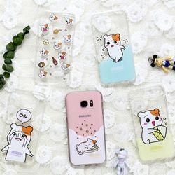 에비츄 정품 투명 젤리케이스.아이폰5S(SE)