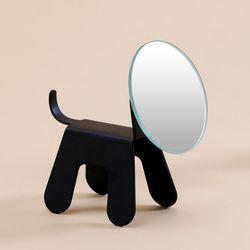 마인 탁상 거울 강아지