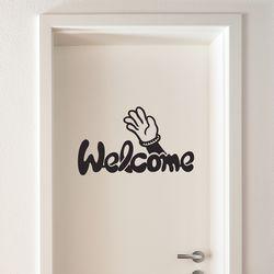 손 흔들며 welcome 도어스티커 small