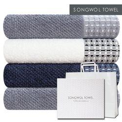 송월타월 2018 설맞이 호텔수건 톤 4장+선물포장