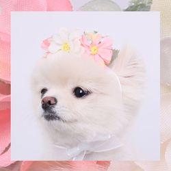 미누보 코스모스 미니 화관 - 핑크