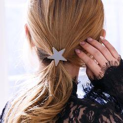 스타 메탈 머리끈