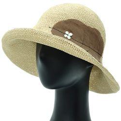 [더그레이]DKP01.써클린넨 여성 여름 비치 밀짚 모자