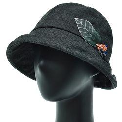 [더그레이]DKU14.나뭇잎장식 여성 벙거지 모자 버킷햇