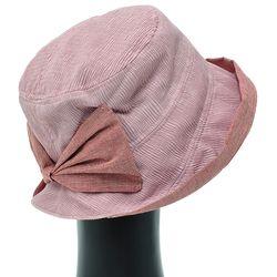 [더그레이]DKU13.링클뒷리본 여성 벙거지 모자 버킷햇